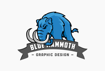 blue mammoth design logo